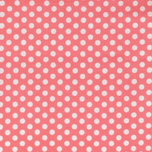 Michael Miller - Kiss Dot Shell (Coral) Fabric